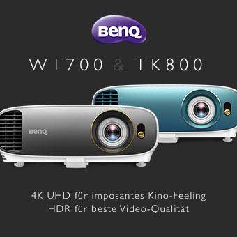 BenQ W1700 & TK800 - 4K UHD für imposantes Kino-Feeling, HDR für beste Video-Qualität