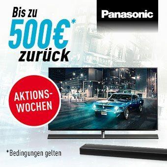 Jetzt mit Panasonic bis zu € 500,- Cashback abräumen!