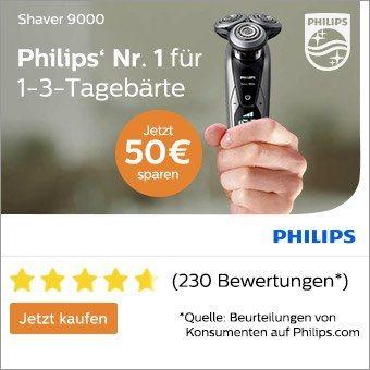 Philips Rasierer Cashback - Jetzt bis zu 50€ zurück