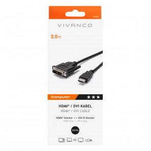 VIVANCO HDMI Videokabel schwarz 2m