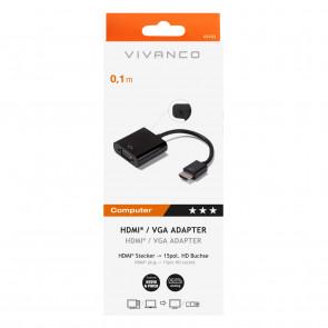 VIVANCO HDMI - VGA-Adapter schwarz