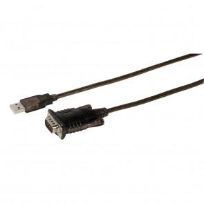 VIVANCO USB Seriell Adapter schwarz