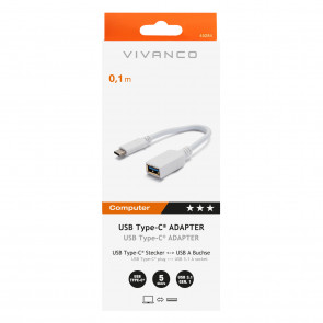 VIVANCO  USB Typ C Adapter 0,1 m weiß