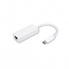 VIVANCO USB Typ C Netzwerk Adapter weiss
