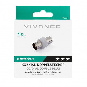 VIVANCO Koax-Stecker/Kupplung