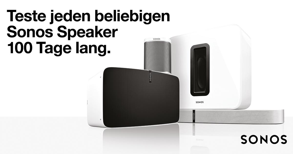 jetzt sonos speaker 100 tage lang testen electronic4you. Black Bedroom Furniture Sets. Home Design Ideas