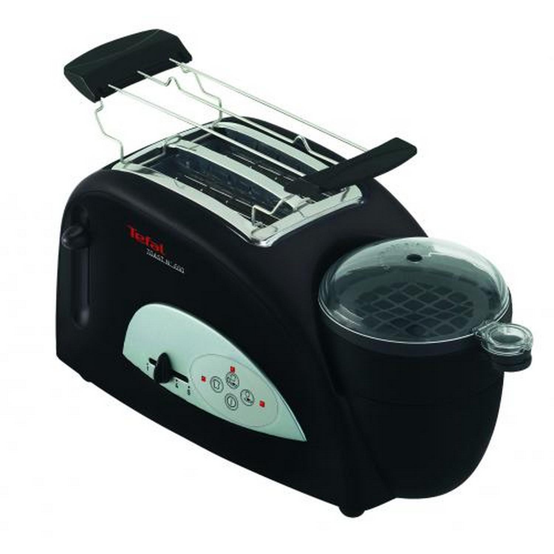 Tefal TT5500 Toaster mit Eierkocher SCHWARZ, 1200 WATT