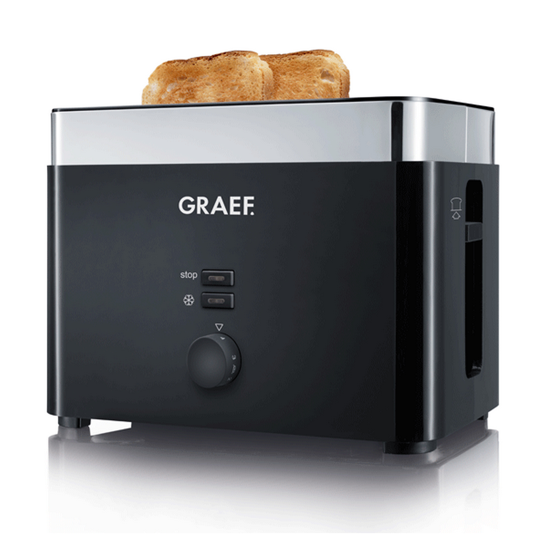 TO62 Toaster Kunststoff, schwarz