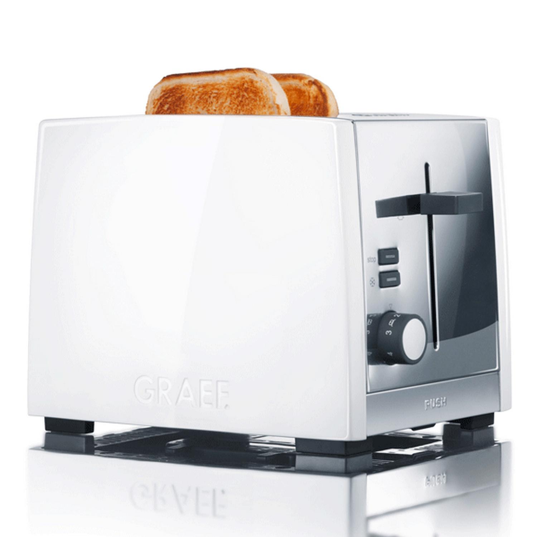 TO81 Toaster Aluminium weiß / Edelstahl glanz