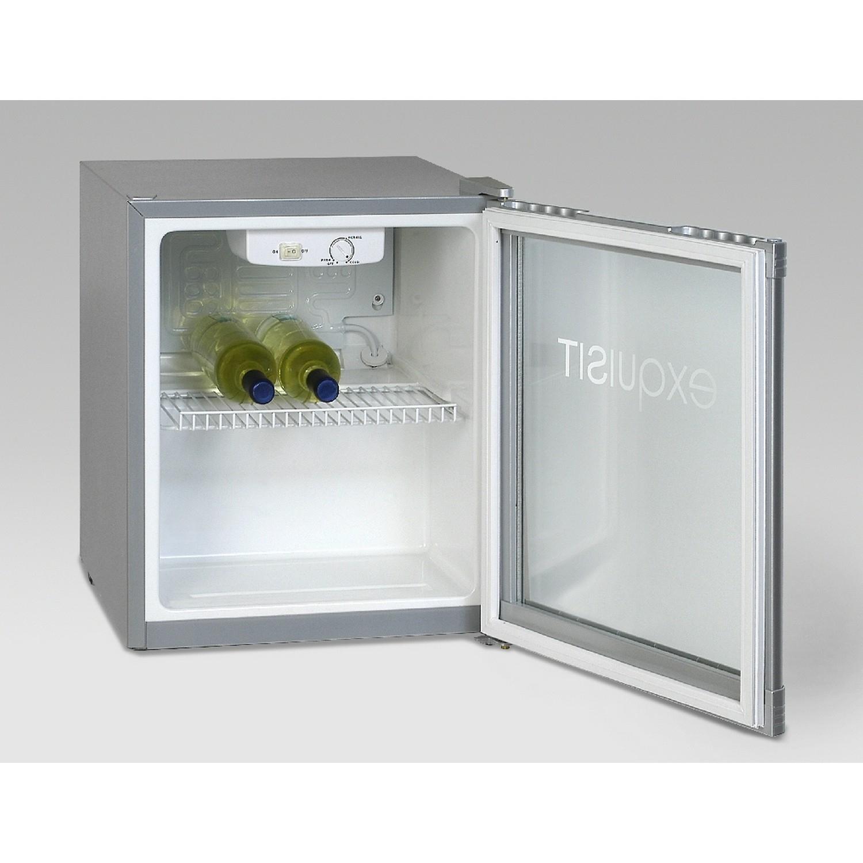 Exquisit KB 01 G /Silber Mini Kühlschrank mit Glastüre 0120011 - Preisvergleich