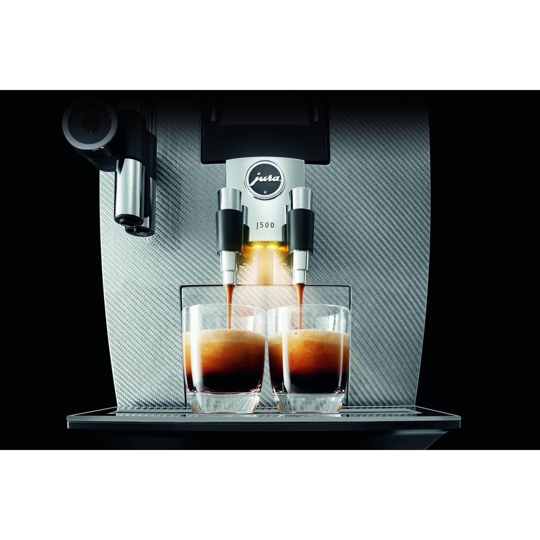 jura impressa j500 silber carbon kaffeevollautomat ebay. Black Bedroom Furniture Sets. Home Design Ideas