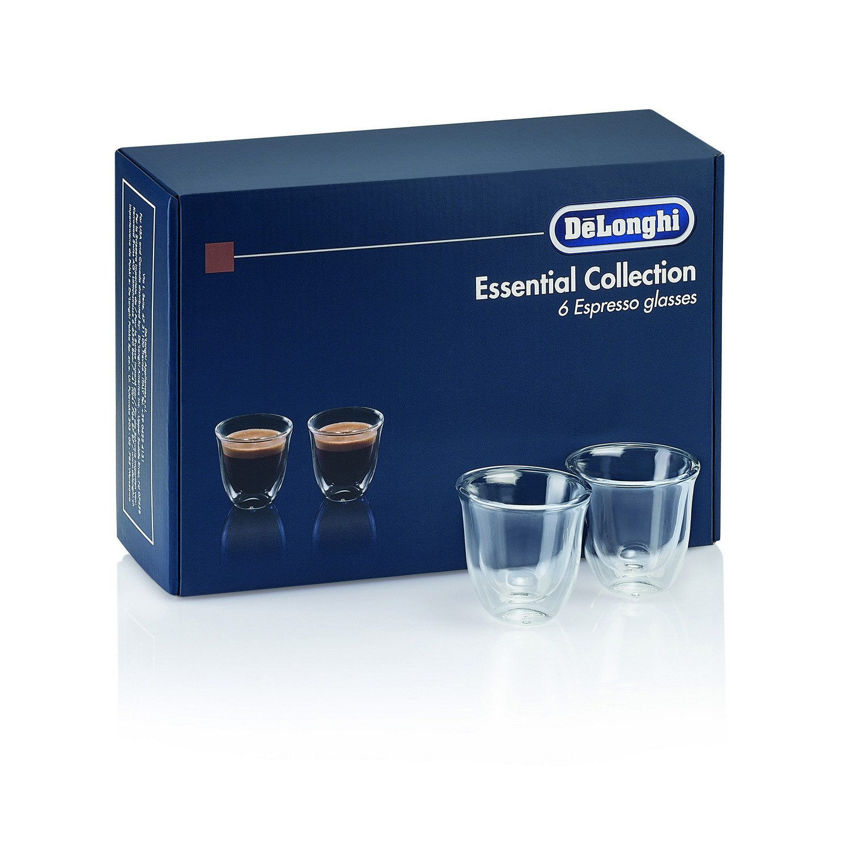 Delonghi Espresso Thermogläser Set GESCHENKSET MIT 6 THERMÖGLÄSERN