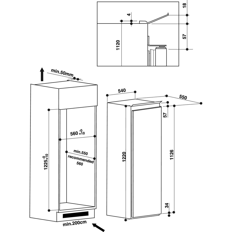 Maße Einbaukühlschrank | Home Design Ideen