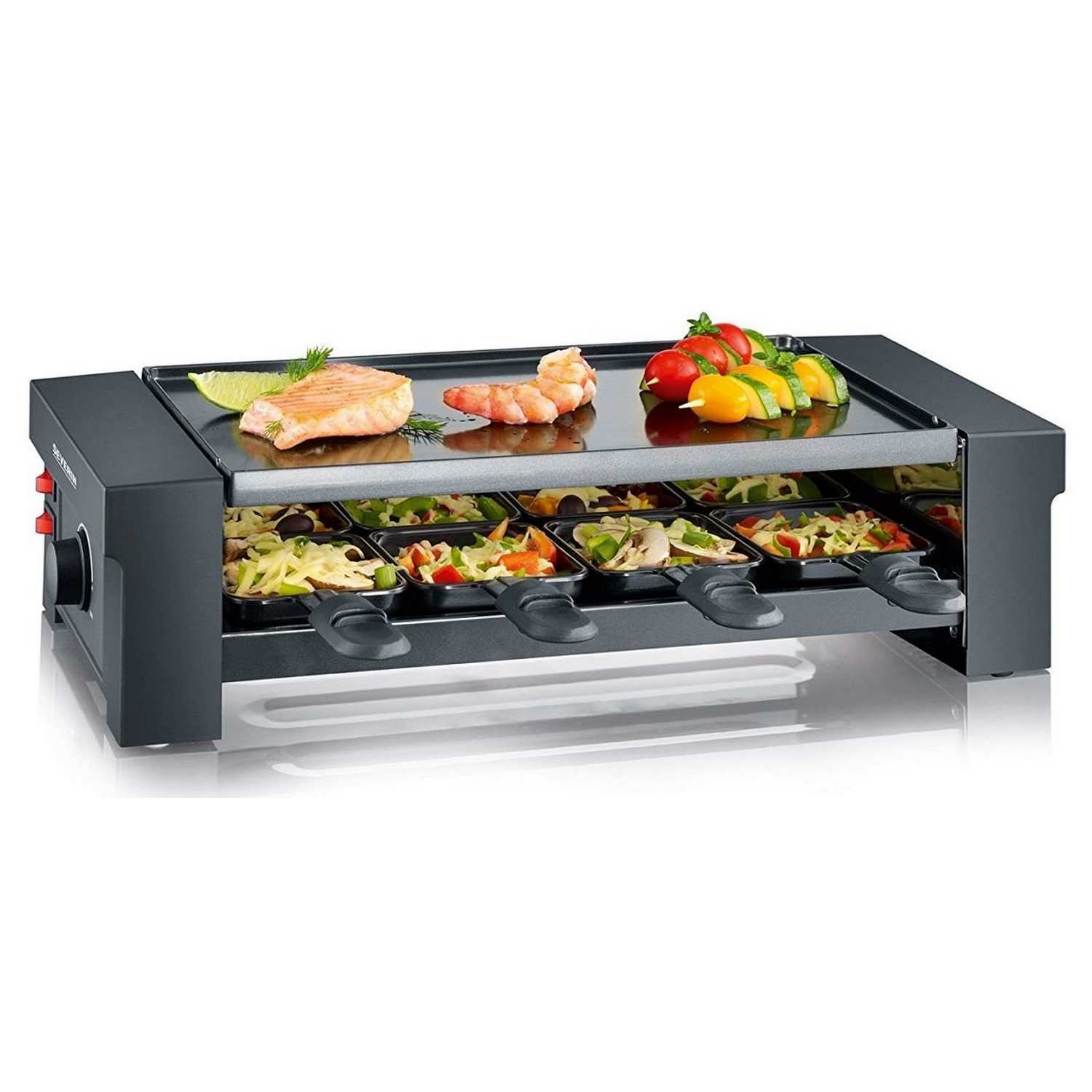 Severin RG2687 Pizza-Grill 8 PFÄNNCHEN, PIZZA- RACLETTE GRILL