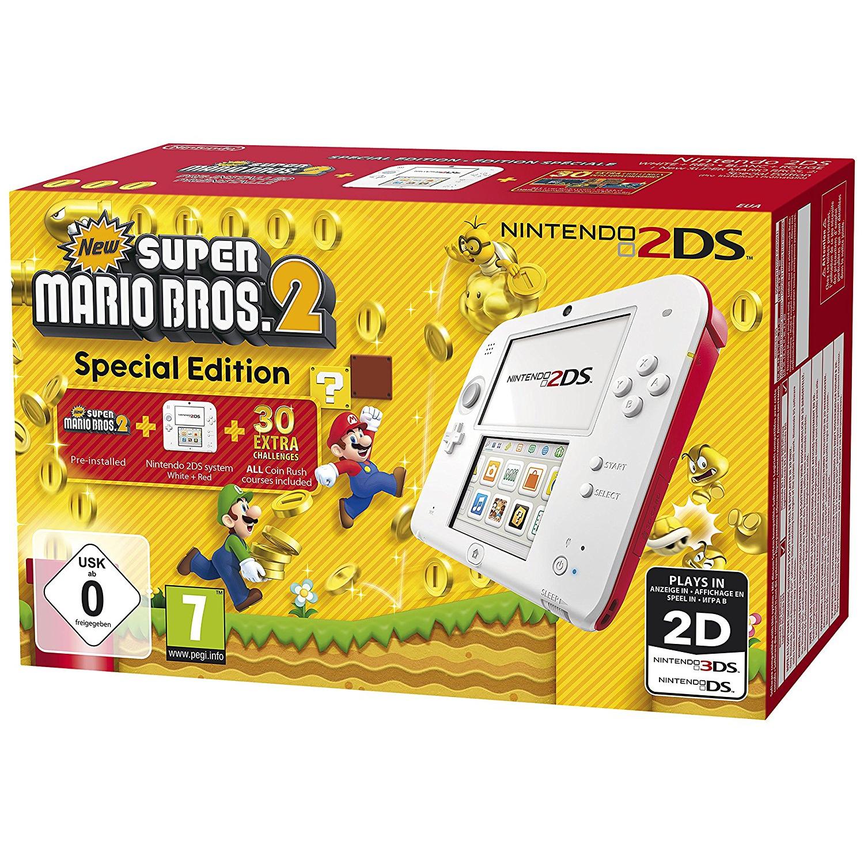 Nintendo 2DS New Super Mario Bros. 2 Special Edition weiß/rot 2203832 - Preisvergleich