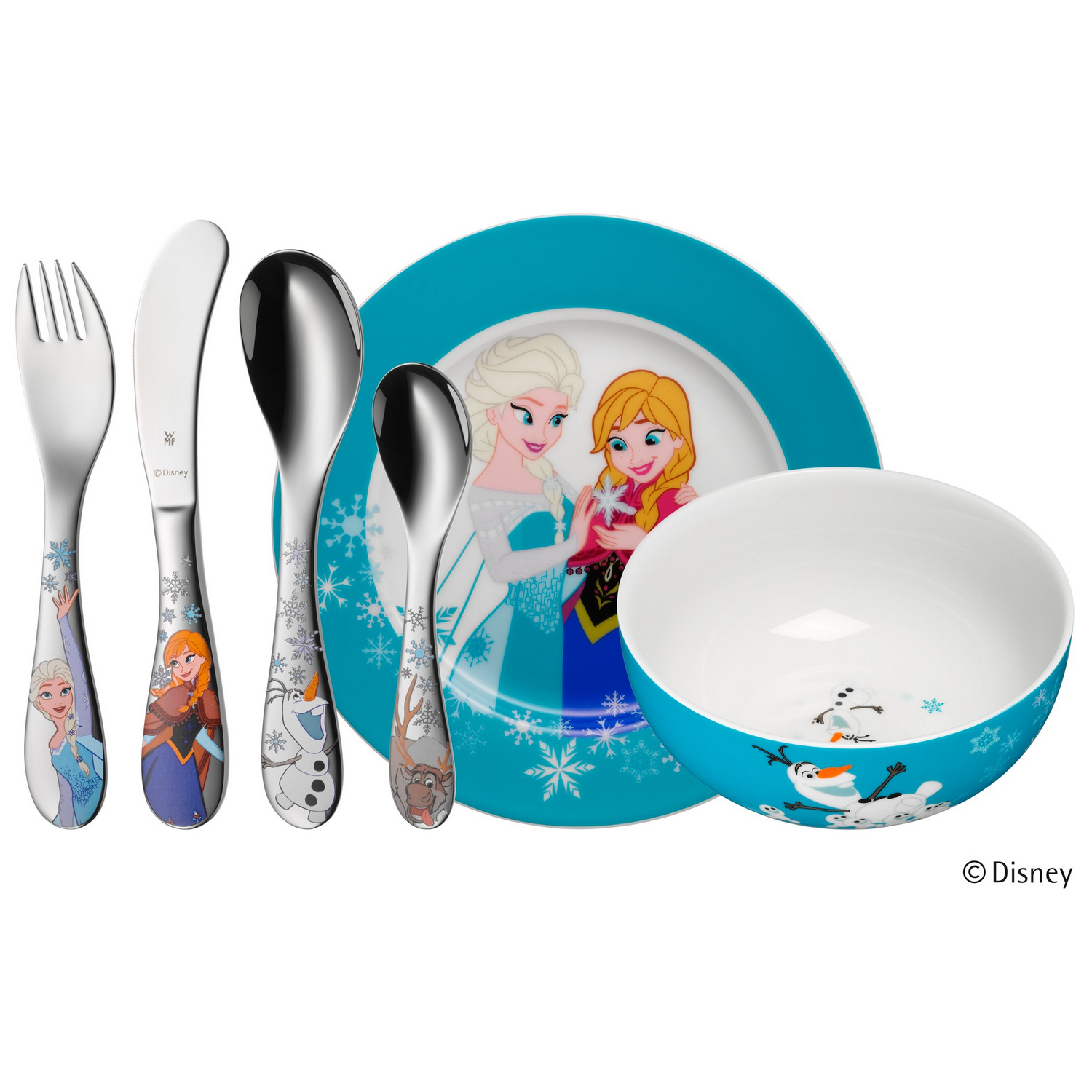WMF Disney Frozen Kinder-Set, 6-tlg 12.8600.9964 KINDERGESCHIRRSET