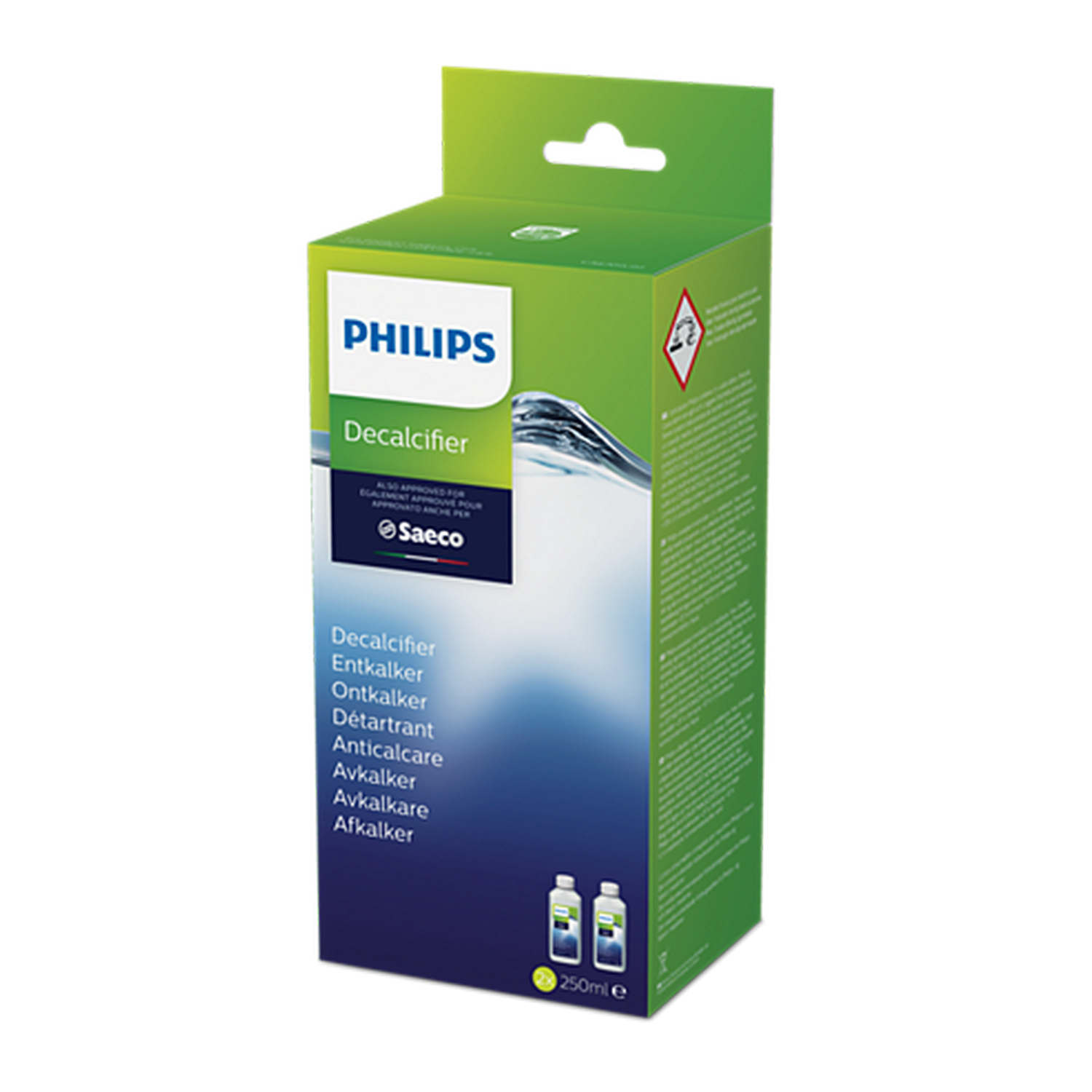 PHILIPS-SAECO Philips CA6700/22 Entkalker 2 x 250 ml FÜR PHILIPS SAECO KAFFEEMASCHINEN