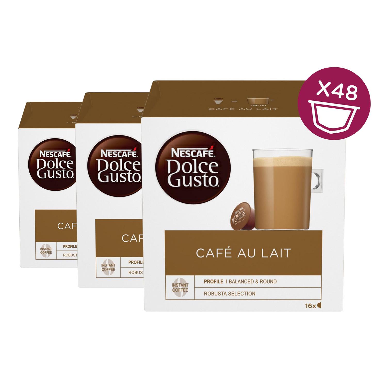 Nescafe Dolce Gusto Cafè au Lait 3ER PACK, 16X10G LÖSKAFFEE & MILCHPULVER 12378770