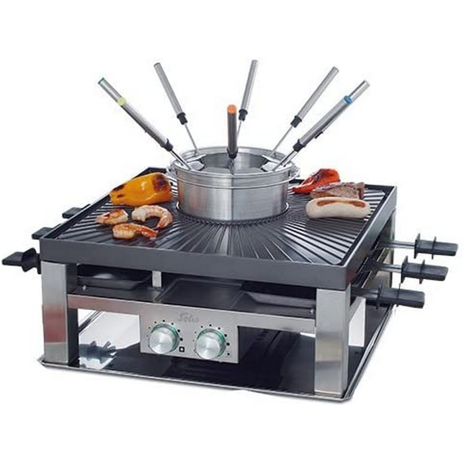 SOLIS Combi-Grill 3 in 1 796 MULTIFUNKTIONS-GRILL 977.21