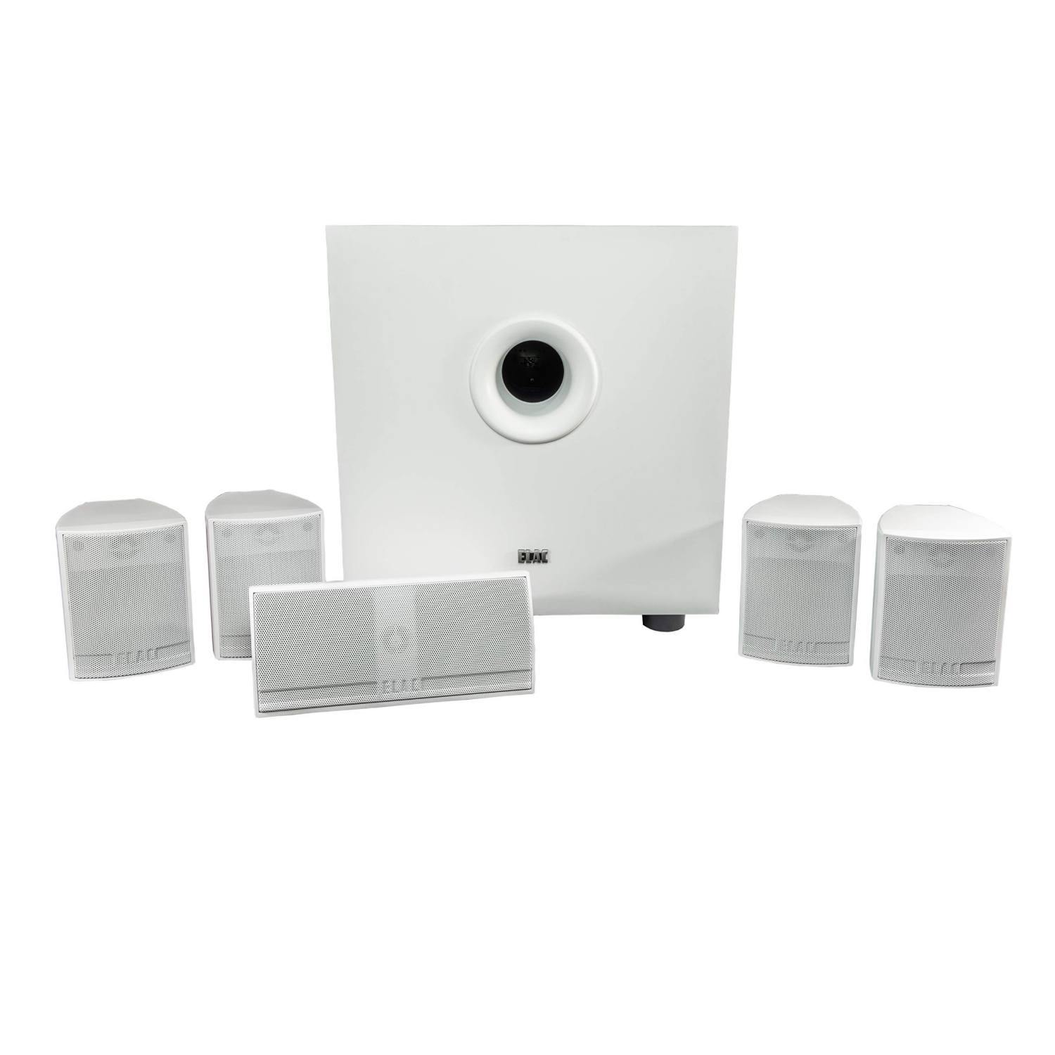 Elac Cinema 5.2 weiß 5.1-HEIMKINO-SET MIT AKTIVEM SUBWOOFER 35507